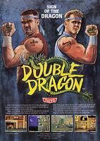 Framed SEGA Master System Gaming Print – Double Dragon (Picture Poster NES Art)