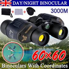 HD 60x60 Military Army Optics Zoom Binoculars Day/Night Telescope Professional