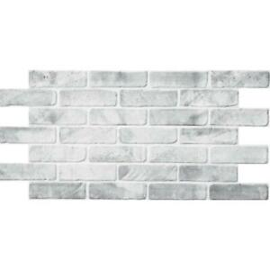 3D Old Grey Brick Panel PVC Interior Panels Kitchen Cladding Pack of 2