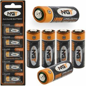 NGT LRV08 Batteries 12v Battery for Fishing Bite Alarms VX VC Camo - Pack of 5