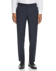 NW0T $325 EIDOS NAPOLI NAVY MICROCHECK LIGHTWEIGHT WOOL DRESS PANT EU:50R/US:34