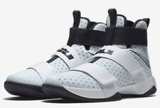 on sale 5569c eebfd Mens Nike Air Lebron Soldier 10 X TB Sneakers New White Black Silver 844380 -100