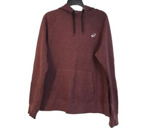 Asics Women's M Burgundy Maroon Pullover Hoodie Athletic Fitness Workout Active