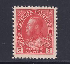 Canada Sc 109 MNH. 1923 3c carmine KGV Admiral, dry printing, fresh, VF