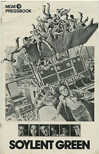 SOYLENT GREEN • 1973 • 24 pgs + Billing creds Sheet • ORIGINAL, Unfolded, 1 Cut