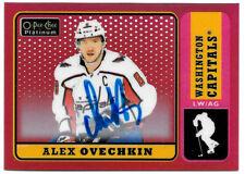 2019-20 Alex Ovechkin O-Pee-Chee OPC Platinum Red Rainbow Auto - Captials