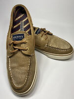 Sperry Topsider Gold Glitter 2-Eye Boat Shoes Womens Size 8.5 M  Leather 9446857
