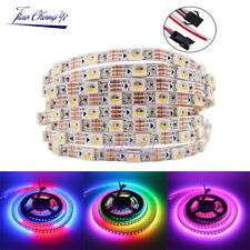 Addressable SK6812 5050 RGBWW 60LED pixel strip 5mm width 5V full color 1M IP20
