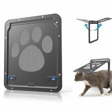 Dog Cat Screen Door Footprint Pattern Window Screen Doggie Flap Pet Pet Supplies