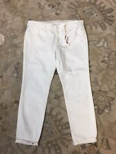 NEW Jessica Simpson Women White Jeans Skinny Crop Capris NWT $59 Bottoms 31 #6