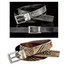 860018 + 860034 SET OF 2 CANTERBURY BULLDOGS NRL TEAM BLACK & BROWN LEATHER BELT