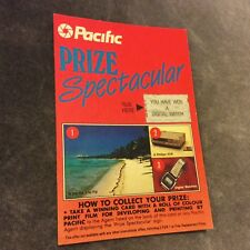 Vintage Pacific Photographic Film Sweepstakes Card - Australia