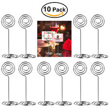 10pcs Round Memo Photo Place Card Holder Clips Wedding Party Table Decor Favor