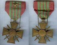 Médaille - Croix de guerre 1939 1 étoile citation d'époque avec son épingle