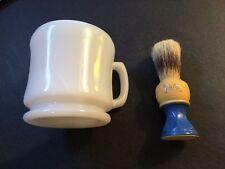 "Vintage Shaving Brush and Mug..""Bristle-tite""..Outstanding shape!"