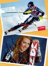 Mikaela shiffrin - 2 top autógrafo imágenes (21) - Print copies + ski ak firmado