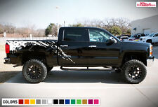 Decal Vinyl Graphic Side Bed Mud Splash Kit for Chevrolet Silverado Z71 14-17
