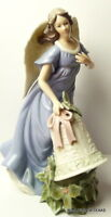 Christmas Angel Grandeur Noel Decorative Porcelain Feathered Wings 2003