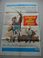 CHALLENGE FOR ROBIN HOOD / ORIGINAL ONE-SHEET MOVIE POSTER (BARRIE INGHAM)