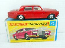 143. MATCHBOX ORIGINAL COCHE ROLLS ROYCE SILVER SHADOW REF 24 IN BOX CAR ENGLAND