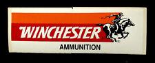 WINCHESTER AMMUNITION 2.75 x 8.5 VINYL STICKER RED ORANGE BLACK WHITE SHRINKAGE