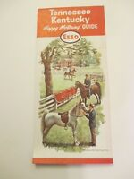Vintage 1963 ESSO Tennessee Kentucky Oil Gas Service Station Road Map