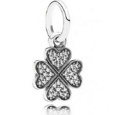 PANDORA Sterling Silver Sparkling Lucky Clover Pendant Charm