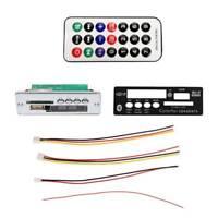 MP3 Bluetooth Decoder Board Module with Remote Control USB FM Aux Radio for Car