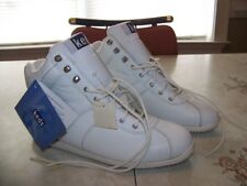 Vintage 1990s Keds High Top Sneakers-White Leather Tennis Shoes-Nos-Womans Sz 8M