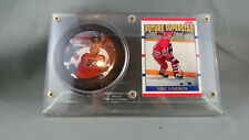 Eric Lindros  Memorabilia Gift Pack - Rookie Puck and Future Prospects Card