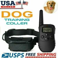 Waterproof Dog Shock Training Collar With Remote Electric Trainer Small Large HL
