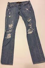 Pink Victoria's Secret Distressed Denim Jeans Sz 4 Limited Edition Straight Leg