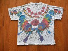 Vintage Grateful Dead 1992 T-Shirt All Over Tie-Dye Brockum Steal Your Face XL