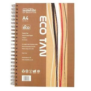 Seawhite 140gsm Corn Crush Eco Tan A4 Wire Bound Sketchbook