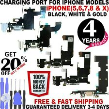 OEM Charging Port Charger Dock Mic Flex For iPhone 6 6S 7 8 X + Plus White Black