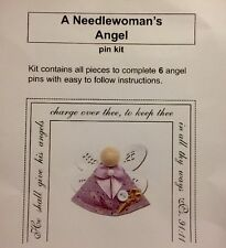 NeedleWoman's Angel Pin Kit Craft Sewing Kit  6 pins Sewing Class Craft Project
