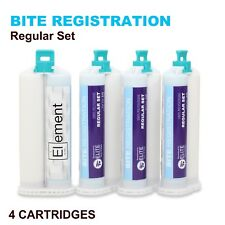 ELEMENT BITE REGISTRATION MATERIAL REGULAR SET 4x 50ML CARTRIDGES DENTAL VPS PVS