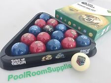 NRL Rugby League NSW V's QLD State of Origin POOL BALLS AND TRIANGLE GIFT SET