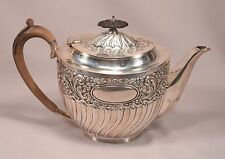 Beautiful Victorian Sterling Silver Tea Pot Sheffield 1897-98 Roberts and Belk
