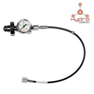 Hydrotech PCP DIN Air Gun Charging Kit Filler Adapter Hose Gauge Bottle