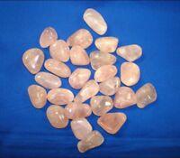 Rose Quartz Tumble Stone Specimen 1/2 lbs Bulk Reiki Chakra Crystal Energy Heal