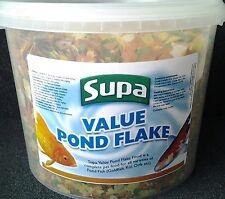 Supa Value Pond Flake Fish Food Goldfish Koi Orfe 3000ml 3 Litre Bucket
