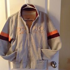Hollister DISTRESSED Zip Up Sweater Jacket  shirt WORN ONCE sz SMALL