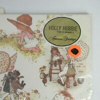 Vintage American Greetings Holly Hobbie Flat Gift Wrap Wrapping Paper 2 Sheets