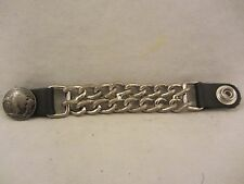 Buffalo Head Dbl Chain Biker Vest Extender 1 pc.  Used  (117EC)