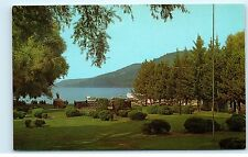 Lake Front Lawn Public Park Otsego Lake Cooperstown NY New York Postcard B11