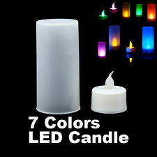 7 Color LED Candle Changing Floating Flash Light Flicker Lamp Wedding Home Decor