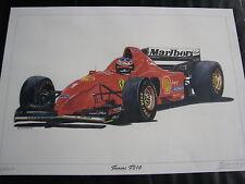Litho in Alu frame Ferrari F310 1996  #1 Michael Schumacher Eric-Jan Kremer
