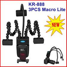 KR-888 Macro Flash Light Triplet Lite 3 head LED Speedlite for Canon Nikon Sony