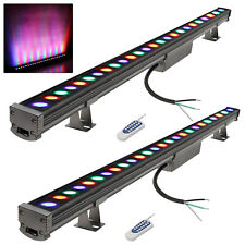 2 Pack 18W LED Wall Washer RGB Multicolor Linear Strip Bar Stage Lighting 38.9in